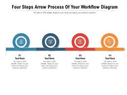 Four Steps Arrow Process Of Your Workflow Diagram Infographic Template