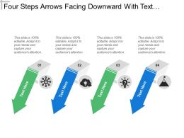 Four Steps Arrows Facing Downward With Text Holders