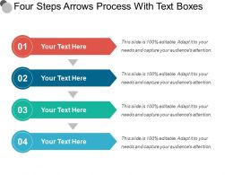 Four Steps Arrows Process With Text Boxes