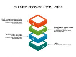 Four Steps Blocks And Layers Graphic