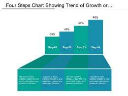 Four Steps Chart Showing Trend Of Growth Or Progression With Process Icons