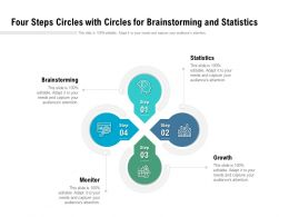 Four Steps Circles With Circles For Brainstorming And Statistics