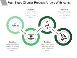 7703932 Style Circular Zig-Zag 4 Piece Powerpoint Presentation Diagram Infographic Slide