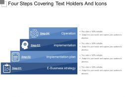 Four Steps Covering Text Holders And Icons