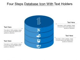 Four Steps Database Icon With Text Holders