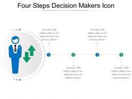 Four Steps Decision Makers Icon