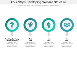Four Steps Developing Website Structure Ppt Powerpoint Presentation Gallery Sample