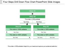 four_steps_drill_down_flow_chart_powerpoint_slide_images_Slide01