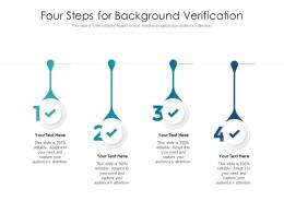 Four Steps For Background Verification