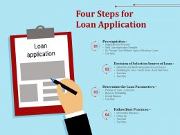 Four Steps For Loan Application
