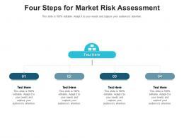 Four Steps For Market Risk Assessment Infographic Template