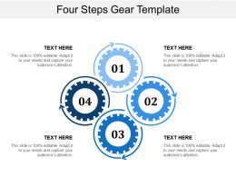 Four Steps Gear Template
