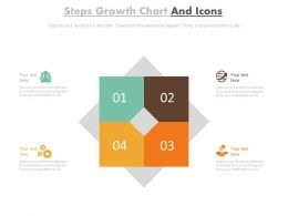 Four Steps Growth Chart And Icons Flat Powerpoint Design