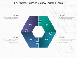 Four Steps Hexagon Jigsaw Puzzle Pieces