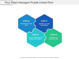 Four Steps Hexagon Puzzle Linear Flow