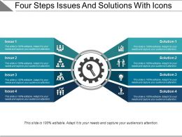 Four Steps Issues And Solutions With Icons