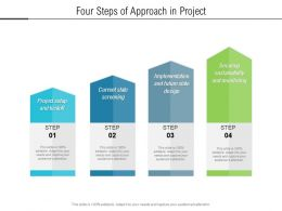 Four Steps Of Approach In Project