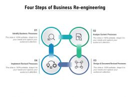 Four Steps Of Business Re Engineering