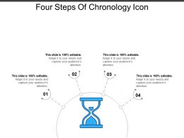 Four Steps Of Chronology Icon