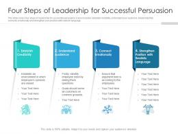 Four Steps Of Leadership For Successful Persuasion