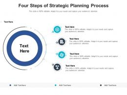 Four Steps Of Strategic Planning Process Infographic Template