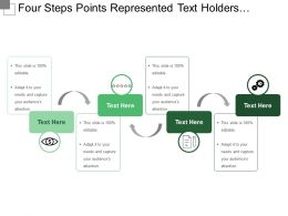 Four Steps Points Represented Text Holders And Icons