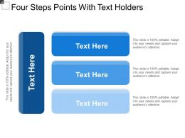 Four Steps Points With Text Holders