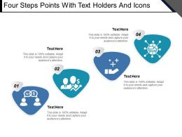 Four Steps Points With Text Holders And Icons