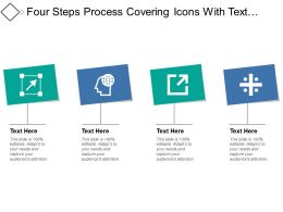 Four Steps Process Covering Icons With Text Boxes