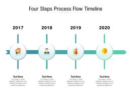 Four Steps Process Flow Timeline