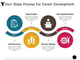 Four Steps Process For Career Development Ppt Slide Design