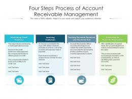 Four Steps Process Of Account Receivable Management