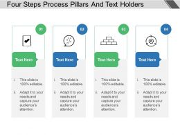 Four Steps Process Pillars And Text Holders
