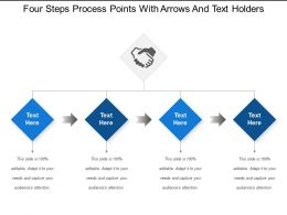 Four Steps Process Points With Arrows And Text Holders