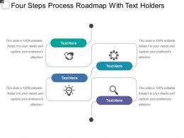 Four Steps Process Roadmap With Text Holders
