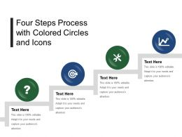 Four Steps Process With Colored Circles And Icons