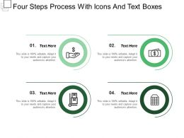 Four Steps Process With Icons And Text Boxes