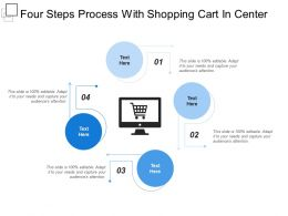 Four Steps Process With Shopping Cart In Center