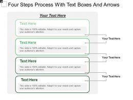 Four Steps Process With Text Boxes And Arrows
