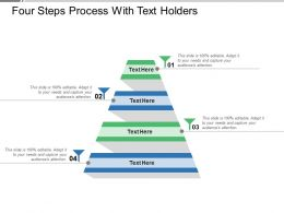 Four Steps Process With Text Holders