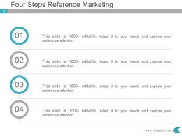 Four Steps Reference Marketing Powerpoint Presentation Design