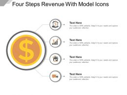 Four Steps Revenue With Model Icons Good Ppt Example