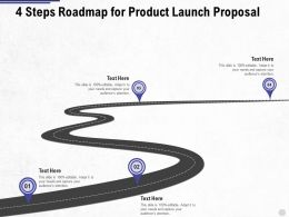 Four Steps Roadmap For Product Launch Proposal Ppt Powerpoint Presentation Visual Aids Inspiration