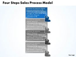 Four Steps Sales Process Model Flow Chart Template Powerpoint Slides