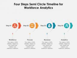 Four Steps Semi Circle Timeline For Workforce Analytics
