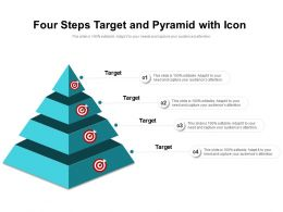 Four Steps Target And Pyramid With Icon