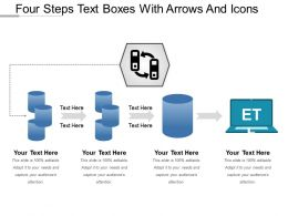 Four Steps Text Boxes With Arrows And Icons