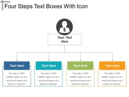 Four Steps Text Boxes With Icon