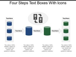Four Steps Text Boxes With Icons