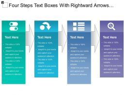 Four Steps Text Boxes With Rightward Arrows Pointing